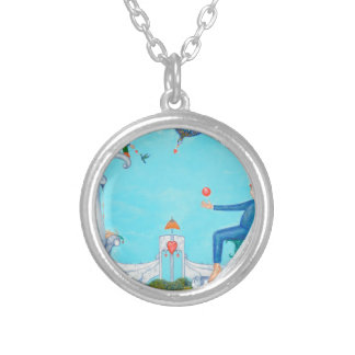Garden of Paradise Silver Plated Necklace