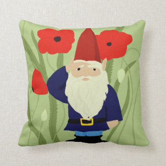 Garden of Remembrance Gnome Throw Pillow