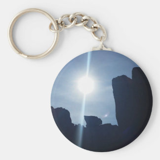 Garden of the Gods Basic Round Button Keychain