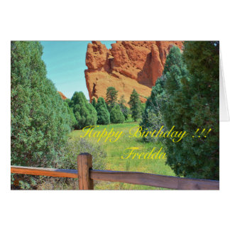Garden of the Gods Birthday Greeting Card