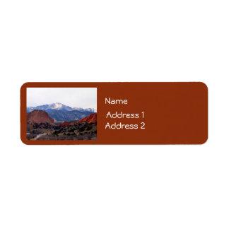 Garden of the Gods (Colorado) Return Address Label