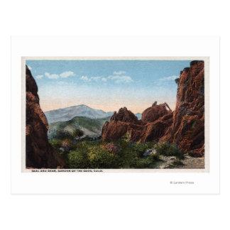 Garden of the Gods, Colorado - Seal and Bear Postcard