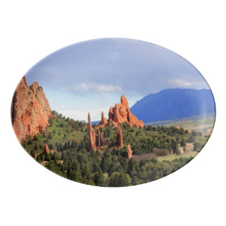 Garden of the gods Colorado serving platter Porcelain Serving Platter