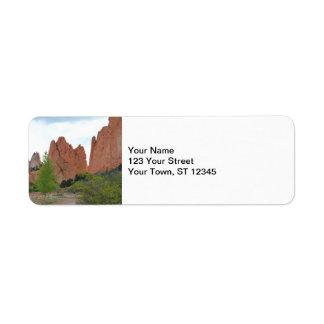 Garden of the Gods Return Address Label