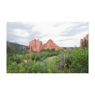 Garden of the Gods Monolith and Plains Canvas Print