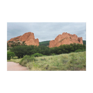 Garden of the Gods Monoliths Along Trail Canvas Print