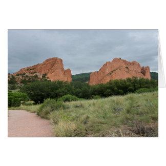 Garden of the Gods Monoliths Along Trail Card