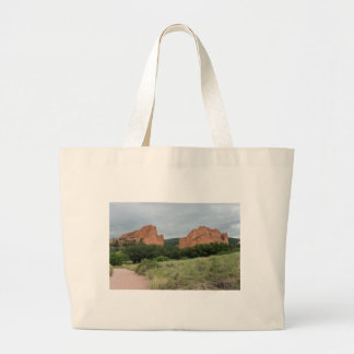 Garden of the Gods Monoliths Along Trail Large Tote Bag