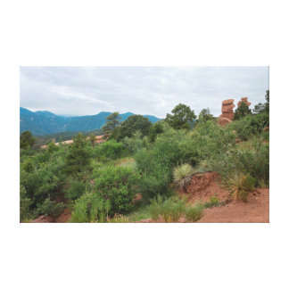 Garden of the Gods Mountains and Hills Canvas Print
