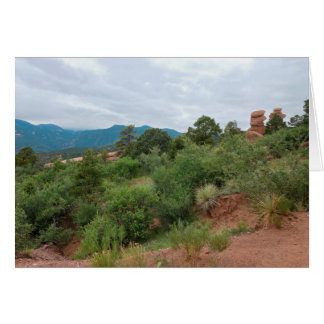 Garden of the Gods Mountains and Hills Card