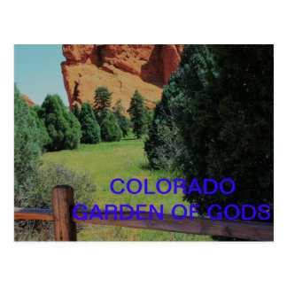 GARDEN OF THE GODS POSTCARD