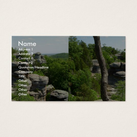 Garden Of The Gods-Southern Illinois. Stereographi Business Card