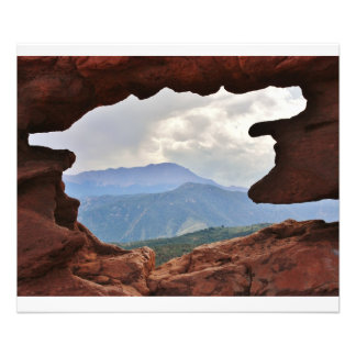Garden of the God's with a view of Pike's Peak Photo Print