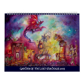 GARDEN OF THE LOST SHADOWS -2013 FLYING RED DRAGON CALENDARS