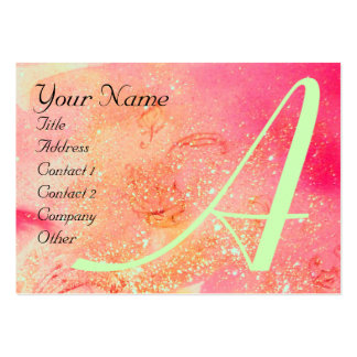 GARDEN OF THE LOST SHADOWS -BUTTERFLY MONOGRAM LARGE BUSINESS CARD