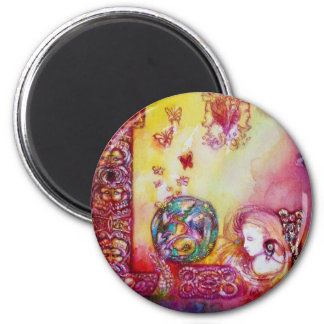 GARDEN OF THE LOST SHADOWS -FAERY AND BUTTERFLIES 2 INCH ROUND MAGNET