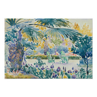 Garden of the Painter at Saint Clair Poster