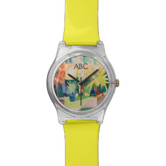 """Garden On Lake Thun"" Art watches"