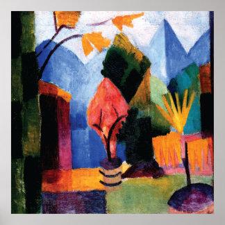 Garden On The Lake ~ August Macke c1913 Poster