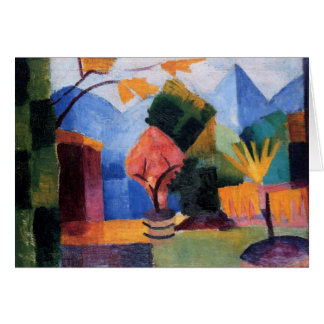 Garden on the lake of Thun by August Macke Card