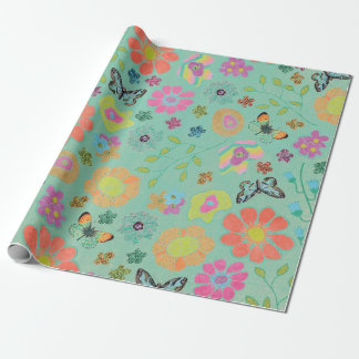 Garden Party Butterfly Wrapping Paper