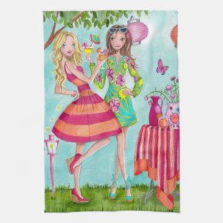 Garden Party Girls Kitchen Towel