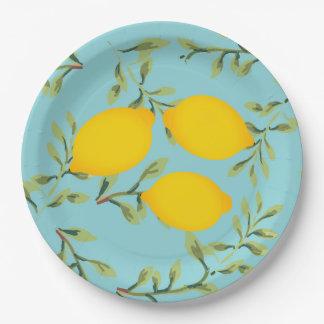 Garden Party Lemon Paper Plates