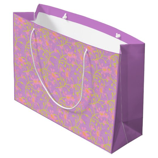 Garden Party Purple Large Gift Bag