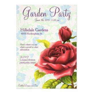 Garden Party - Victorian Rose Invite