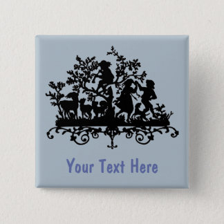 Garden Party With Children Dancing 2 Inch Square Button