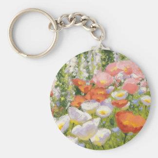 Garden Pastels Basic Round Button Keychain