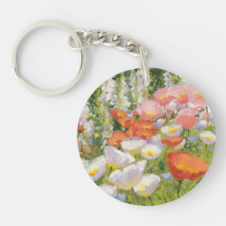 Garden Pastels Double-Sided Round Acrylic Keychain
