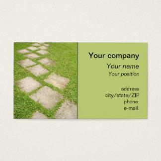 """""""Garden path"""" business card"""