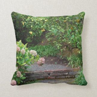 Garden Path Pillow, Green Backside Throw Pillow