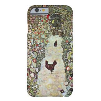 Garden Path w Chickens, Gustav Klimt, Art Nouveau Barely There iPhone 6 Case