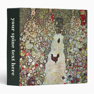 Garden Path w Chickens, Gustav Klimt, Art Nouveau Binders