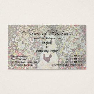 Garden Path with Chickens by Gustav Klimt Business Card