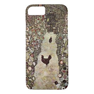 Garden Path with Chickens ~ Gustav Klimt iPhone 7 Case