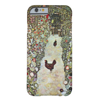 Garden Path with Chickens, Klimt, Art Nouveau Barely There iPhone 6 Case