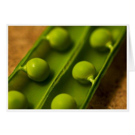 Garden Peas Greeting Card