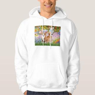 Garden - Pembroke Welsh Corgis (two) Hoodie