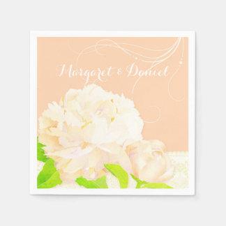 Garden Peony Elegance Wedding Disposable Napkin