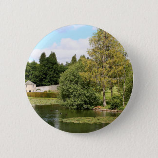 Garden & pond, highlands, Scotland 2 Inch Round Button