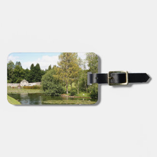 Garden & pond, highlands, Scotland Luggage Tag