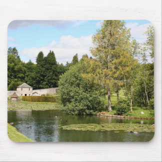 Garden & pond, highlands, Scotland Mouse Pad