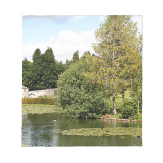 Garden & pond, highlands, Scotland Notepad