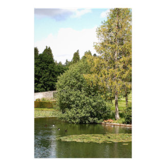 Garden & pond, highlands, Scotland Stationery