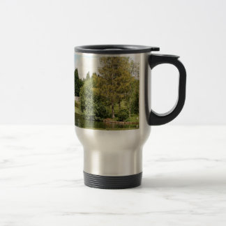 Garden & pond, highlands, Scotland Travel Mug