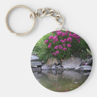 Garden Pond in Okanagan area, BC, Canada Basic Round Button Keychain