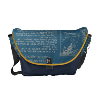 Garden Pool Blueprint Bag Commuter Bags